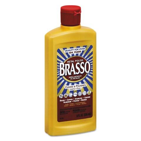 BRASSO Metal Surface Polish 8-ounce Bottle