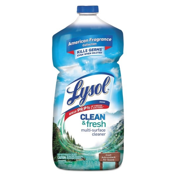 LYSOL Cool Adirondack Air Clean and Fresh Multi-Surface Cleaner 40 oz. Bottle (Pack of 9)