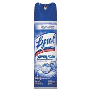 LYSOL Brand Power Foam Bathroom Cleaner 24-ounce Aerosol 12/Carton