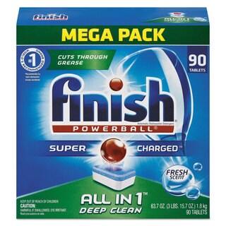 FINISH Powerball Dishwasher Tabs Fresh Scent 90/Box 4 Boxes/Carton