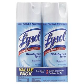 LYSOL Brand Disinfectant Spray Crisp Linen 12.5-ounce Aerosol 2/Pack 6 Pack/Carton