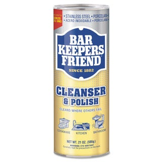 Bar Keepers Friend Powdered Cleanser and Polish 21-ounce Can 12/Carton