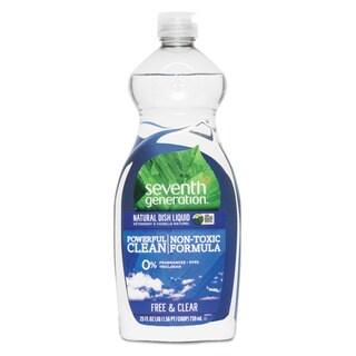 Seventh Generation Natural Dishwashing Liquid Free & Clear 25-ounce Bottle 12/Carton
