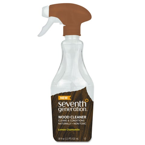 Seventh Generation Natural Wood Cleaner Lemon Chamomile 18-ounce Spray Bottle 8/Carton