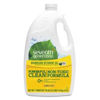Seventh Generation Natural Automatic Dishwasher Gel Lemon Jumbo 70-ounce Bottle 6/Carton