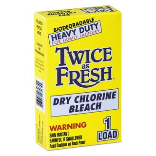 Twice as Fresh Heavy Duty Coin-Vend Powdered Chlorine Bleach 1 load 100/Carton