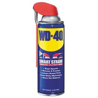 WD-40 Smart Straw Spray Lubricant 12-ounce Aerosol Can 12/Carton