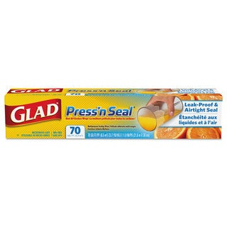 Glad Press'n Seal Plastic Wrap 70 Square Foot 12 Rolls per Carton