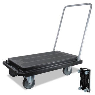 deflecto Heavy-Duty Platform Cart 300-pound Capacity 21-inch wide x 32 1/2-inch deep x 36 3/4-inch high Black