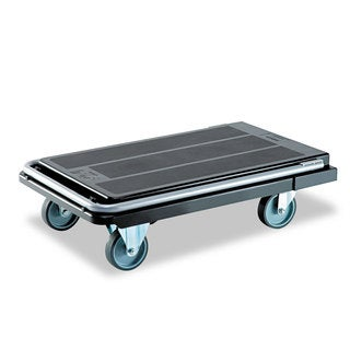 deflecto Heavy-Duty Platform Cart 500-pound Capacity 21-inch wide x 32 1/2-inch deep x 37 1/2-inch high Black