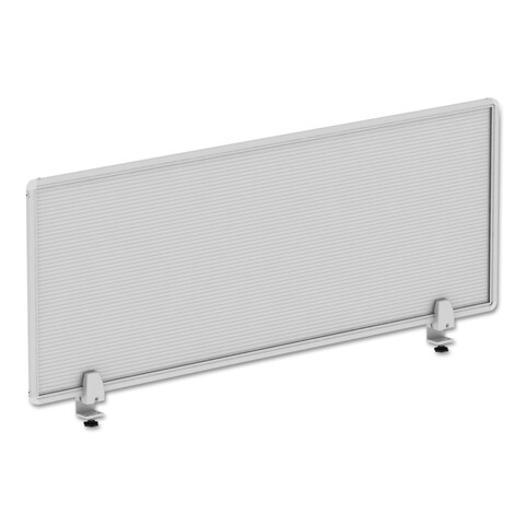 Alera Polycarbonate Privacy Panel 47-inch wide x 18h Silver