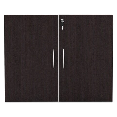 Alera Valencia Series Cabinet Door Kit For All Bookcases 31 1/4-inch Wide Espresso