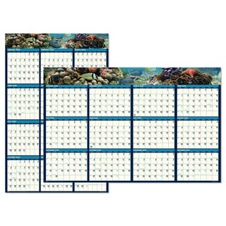 House of Doolittle Recycled Earthscapes Sea Life Scenes Reversible Wall Calendar, 24 x 37, 2018