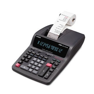 Casio DR-270TM Two-Color Desktop Calculator Black/Red Print 4.8 Lines/Sec
