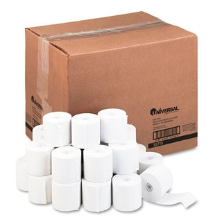 Universal Adding Machine/Calculator Roll 16 -pound 1/2 inches Core 2-1/4 inches x 150 ft,White 100/Carton