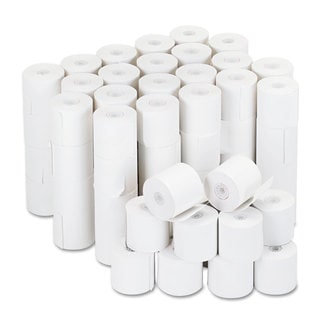 Universal Adding Machine/Calculator Roll 16 -pound 1/2 inches Core 2-1/4 inches x 126 ft,White 100/Carton