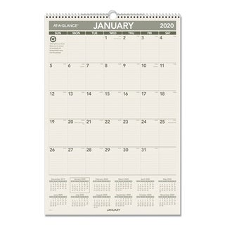 AT-A-GLANCE Recycled Wall Calendar, 15 1/2 x 22 3/4, 2018
