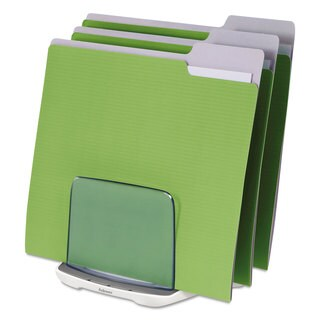 Fellowes I-Spire Series File Station 3 Sections 7 11/16 x 5 1/2 x 6 13/16 White/Grey