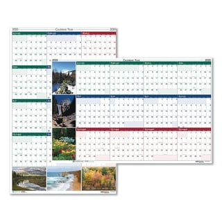 House of Doolittle Recycled Earthscapes Nature Scene Reversible Yearly Wall Calendar, 32 x 48, 2018