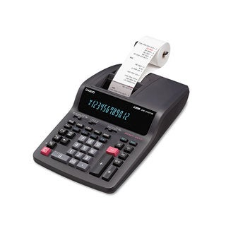 Casio DR-210TM Two-Color Desktop Calculator Black/Red Print 4.4 Lines/Sec