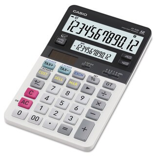 Casio JV220 Dual Display Desktop Calculator 12-Digit LCD