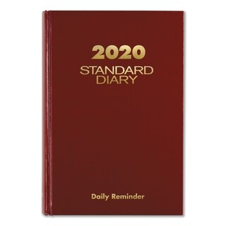 AT-A-GLANCE Standard Diary Recycled Daily Reminder, Red, 5 3/4 x 8 1/4, 2018