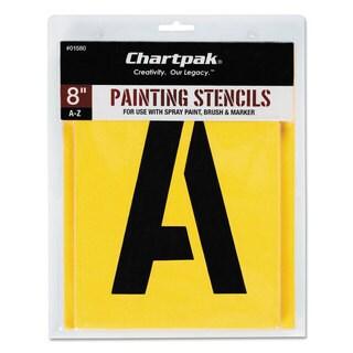 Chartpak Painting Stencil Set A-Z Set Manila 26/Set