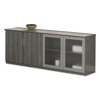 Mayline Medina Series Grey Steel Low Wall Cabinet Doors (Set of 2)