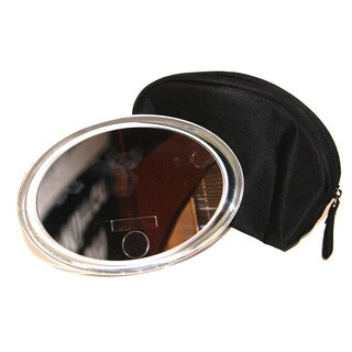 Rucci LED Oval Cosmetic Mirror with 12x Magnification and 3-in-1 Compact Mirror