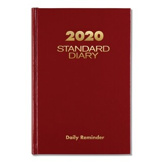 AT-A-GLANCE Standard Diary Recycled Daily Reminder, Red, 5 1/8 x 7 1/2, 2018