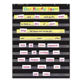Scholastic Standard Pocket Charts 34 x 44 Black/Clear