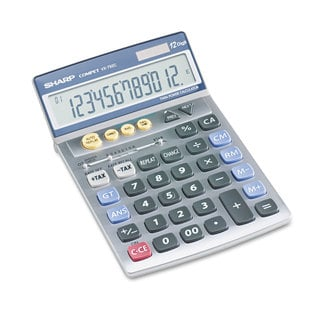 Sharp VX792C Portable Desktop/Handheld Calculator 12-Digit LCD