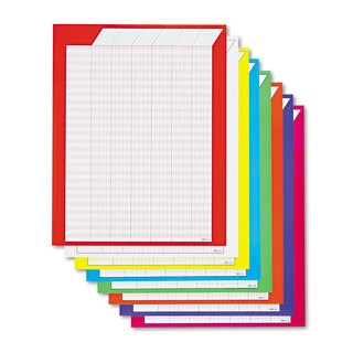 TREND Vertical Incentive Chart Pack 22-inch wide x 28-inch high 8 Assorted Colors 8/Pack