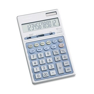 Sharp EL339HB Executive Portable Desktop/Handheld Calculator 12-Digit LCD