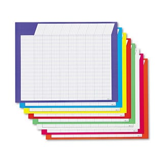 TREND Horizontal Incentive Chart Pack 28-inch wide x 22-inch high Assorted Colors 8/Pack