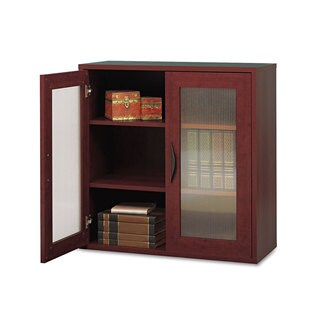 Safco Apres Two-Door Cabinet 29-3/4-inch wide x 11-3/4-inch deep x 29-3/4-inch high Mahogany
