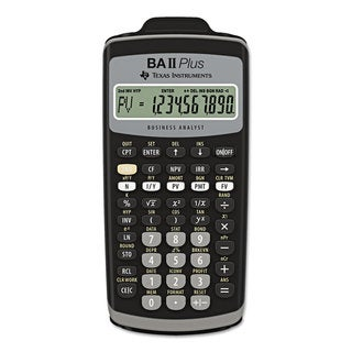 Texas Instruments BAIIPlus Financial Calculator 10-Digit LCD