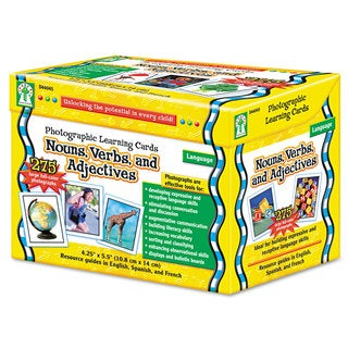 Carson-Dellosa Publishing Photographic Learning Cards Boxed Set Nouns/Verbs/Adjectives Grades K-12