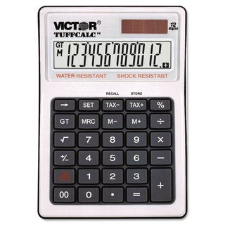 Victor TUFFCALC Desktop Calculator 12-Digit LCD