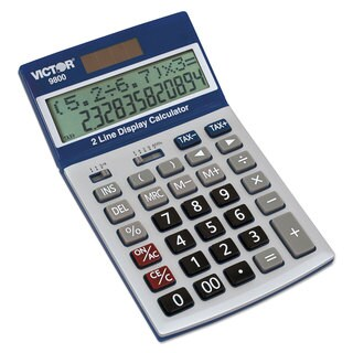 Victor 9800 2-Line Easy Check Display Calculator 12-Digit LCD