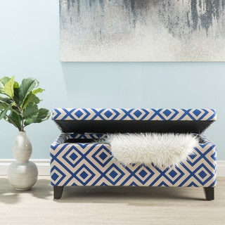 Breanna Patterned Fabric Storage Ottoman by Christopher Knight Home