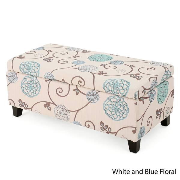 Excellent Shop Breanna Floral Fabric Storage Ottoman By Christopher Unemploymentrelief Wooden Chair Designs For Living Room Unemploymentrelieforg