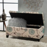 Clay Alder Home Platte Floral Fabric Storage Ottoman