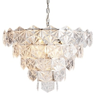 Y-Decor Nickel Finish Metal 9-light Crystal Chandelier