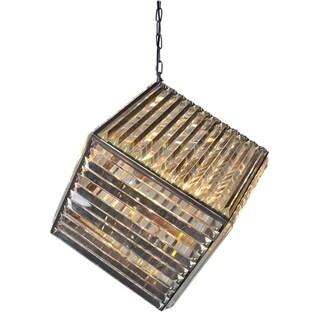 Antique Bronze Metal 4-light Chandelier Cube Design