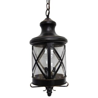 Taysom Oil-rubbed Bronze 3-light Exterior Hanging Light