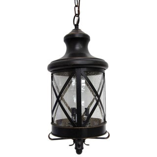 Y-Decor Taysom 3 Light Exterior Hanging Light in Oil Rubbed Bronze