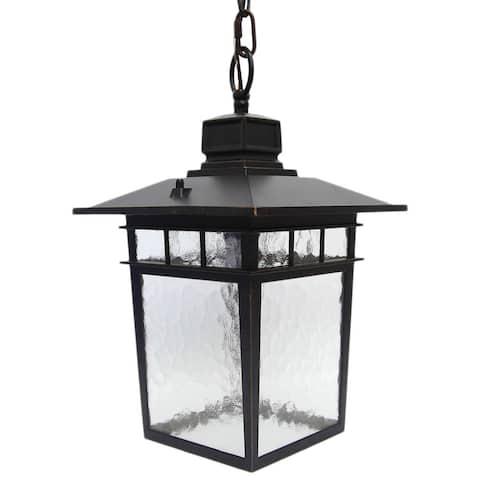 Y-Decor 'Cullen' Oil-rubbed Bronze 1-light Hanging Exterior Lantern