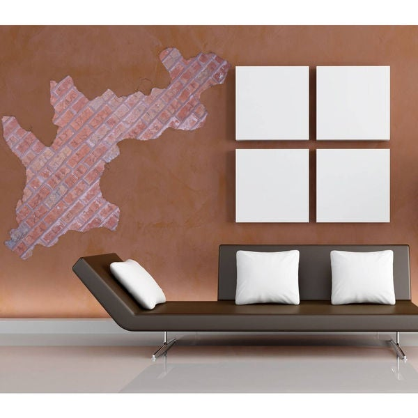 Full Color Brick Wall Sticker, Decal Brick Wall, Wall Art Decal Sticker  Decal Size