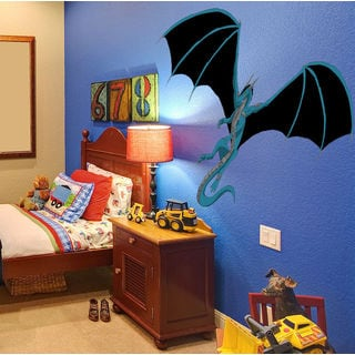 Full color Dragon sticker, Dragon Decal, wall art decal Sticker Decal size 22x30